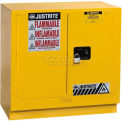 "Justrite 22 Gallon 2 Door, Manual, Undercounter, Flammable Cabinet, 35""W x 22""D x 35""H, White"