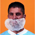 "Polypropylene Beard Cover, 100% Latex Free, Blue, 18"", 100/Bag"