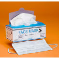 3-Ply Polyester Cellulose Face Mask W/ Ear Loops, 100% Latex Free, Blue, 50/Box, 10 Boxes/Case