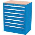 Kennedy 7-Drawer Hybrid Modular Cabinet w/Full Extension Slide Drawers-29x20x31, Classic Blue