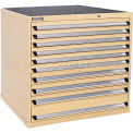 Kennedy 10-Drawer Modular Cabinet w/550 lb Cap. Full Extension Slide Drawers-44x30x40, Brown Wrinkle