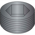 Made In USA 1/16  Dry Seal Socket Pipe Plug Plain, Pkg of 100