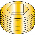 Made In USA 1/4  Dry Seal Socket Pipe Plug Brass, Pkg of 100