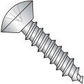 4X3/16  Phillips Oval Undercut Self Tapping Screw Type A B Full Thrd 18 8 Stainless, Pkg of 5000