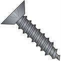 4X1/4  Phillips Flat Undercut Self Tapping Screw Type A B Full Thrd Black Zinc, Pkg of 10000
