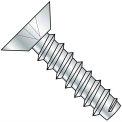 4X1/4  Phillips Flat Undercut Self Tapping Screw Type B Fully Threaded Zinc, Pkg of 10000