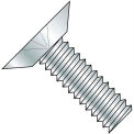 6-32X3/8  Phillips Flat Undercut 100 Degree Machine Screw Fully Threaded Zinc, Pkg of 10000