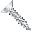 6X5/8  Phillips Flat Undercut Self Tapping Screw Type A B Fully Threaded Zinc Bake, Pkg of 10000