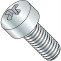 8-32X3/16  Phillips Fillister Head Machine Screw Fully Threaded Zinc, Pkg of 10000