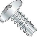 8X1/4  Phillips Truss Thread Cutting Screw Type 25 Fully Threaded Zinc Bake, Pkg of 10000