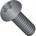 8-32X1/4  Phillips Round Machine Screw Fully Threaded Black Oxide, Pkg of 10000