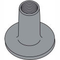 8-32X1/4  WELD NUT WITH .718 ROUND BASE Steel Plain, Pkg of 1000