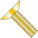 8-32X3/8  Phillips Flat Undercut Machine Screw Fully Threaded Zinc Yellow, Pkg of 10000