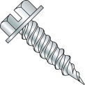 "#8 x 1/2 Slotted Ind. Hex Washer 1/4"" Across Flats FT Self Piercing Screw Needle Pt Zinc - 7000 Pk"