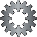 #8  External Internal Combination Tooth Lock Washer Black Oxide, Pkg of 10000