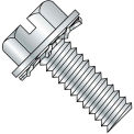 10-24X3/8  Slotted Hex Washer External Sems Machine Screw Fully Threaded Zinc Bake, Pkg of 5000