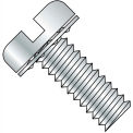 Made In USA 10-24X3/8  Slotted Pan Internal Sems Machine Screw Fully Threaded Zinc, Pkg of 5000