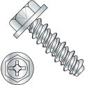 #10 x 3/4 #8HD Phillips Indented Hex Washer High Low Fully Threaded Zinc Bake - Pkg of 6000