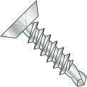 10X3/4  Phillips Flat Undercut Full Thread Self Drilling Screw Zinc Bake, Pkg of 7000