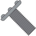 10-32X3/8  Weld Screw With Nibs Top Of Head F/T Plain, Pkg of 3000