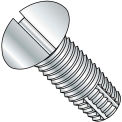 10-32X3/4  Slotted Round Thread Cutting Screw Type F Fully Threaded Zinc Bake, Pkg of 800