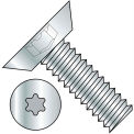 12-24X1/2  6 Lobe Flat Undercut Machine Screw Fully Threaded Zinc, Pkg of 6000