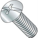 1/4-20X3  Combination (Phil/Slot) Round Head Fully Threaded Machine Screw Zinc, Pkg of 500