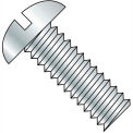 1/4-20X6  Slotted Round Machine Screw Fully Threaded Zinc, Pkg of 200