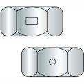 1/4-20  Two Way Reversible Hex Lock Nut Zinc Wax, Pkg of 2000