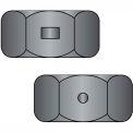 1/4-20  Two Way Reversible Hex Lock Nut Black Zincd Wax, Pkg of 2000