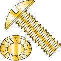5/16-18X1  Slotted Truss Serrated Machine Screw Fully Threaded Zinc Yellow, Pkg of 1250