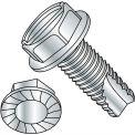 3/8-16X1  Slot Indent Hex Washer Serrated Thread Cutting Screw Type 23 Full Thread ZincBak,700 pcs