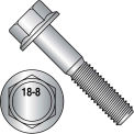 3/8-16X1  Hex Head Flange Frame Bolt IFI-111 2002 18 8 Stainless Steel, Pkg of 500