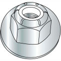 3/8-16  Nylon Insert Flange Stop Hex Lock Nut Zinc, Pkg of 1000