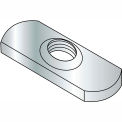 3/8-16  Spot Weld Center Hole Tab Weld Nut Plain, Pkg of 1000