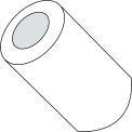 #10 x 3/4 One Half Round Spacer Nylon - Pkg of 1000