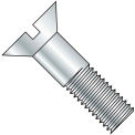 3/4-10X2  Slotted Flat Cap Screw Zinc, Pkg of 100
