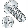 M4-0.7X8  Din 7500 C Metric Type Z Pan Thread Rolling Screw Zinc Bake And Wax, Pkg of 700