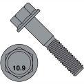 M8-1.25X45  DIN 6921 Class 10 Point 9 Metric Flange Bolt Screw  Black Phosphate, Pkg of 500