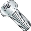 M4X12  JISB 1111 Class 4.8 Metric Phillips Pan Machine Screw Full Thread Zinc, Pkg of 3000