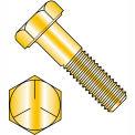 1/4-28 x 1/2 MS90726 Military Hex Cap Screw - Fine Thread - Yellow - Grade 5 - Pkg of 3300