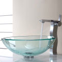 Kraus C-GV-101-12mm-14600CH Clear Glass Vessel Sink & Sonus Faucet Chrome