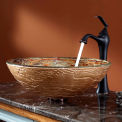 Kraus C-GV-651-12mm-15000ORB Ares Glass Vessel Sink & Ventus Faucet Oil Rubbed Bronze