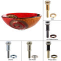 Kraus GV-620-17mm-CH Copper Snake Glass Vessel Sink W/PU-MR Chrome