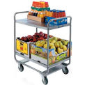 Lakeside Tubular Stainless 2 Shelf Utility Cart 30 x 20 x 35-3/4 500 Lb Cap