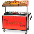 """Lakeside Breakfast Cart With Ergo Handles, Red, Stainless Steel, 28-1/2""""W x 54-3/4""""L x 67""""H - 668"""