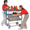 Lakeside HD Ergo-One Stainless 3 Shelf Cart 41-3/8 x 21-5/8 x 46-3/4 700 Lb Cap