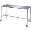 Lakeside® Stainless Steel H-Brace Instrument Table 60L x 24W x 34H