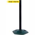 Tensabarrier Black Heavy Duty Post 7.5'L BLK/YLW Danger-Keep Out Retractable Belt Barrier