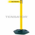 Tensabarrier Yellow Heavy Duty Post 7.5'L BLK/YLW Out of Service Retractable Belt Barrier